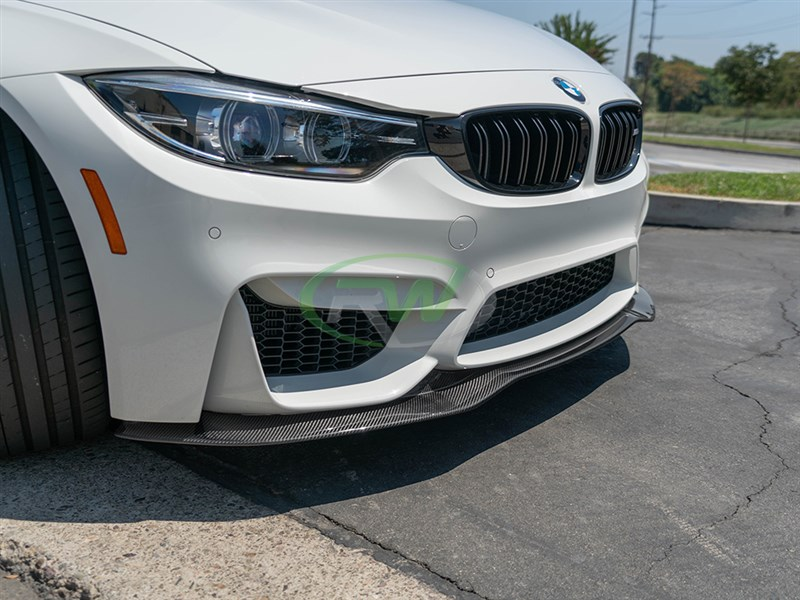 GTX carbon fiber front lip spoiler for BMW F80 M3 F82 F83 M4