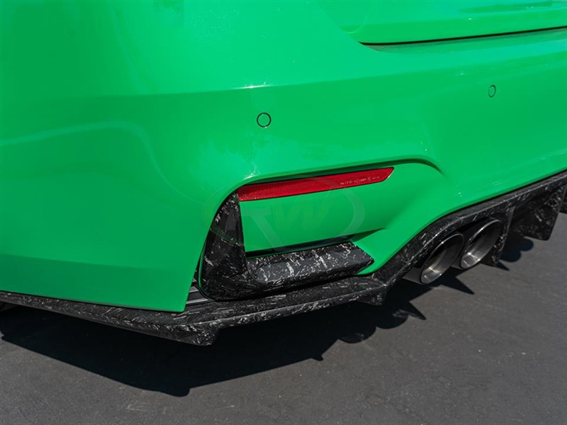 RW Carbon Fiber Forged Carbon Rear Bumper Splitters