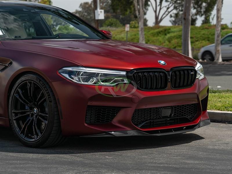 BMW F90 M5 carbon fiber RKP style front lip spoiler