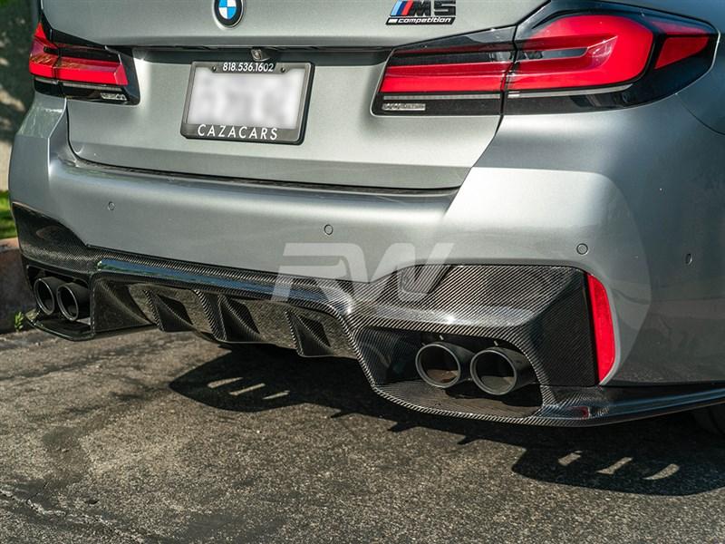 BMW F90 M5 3D Style Carbon Fiber Diffuser