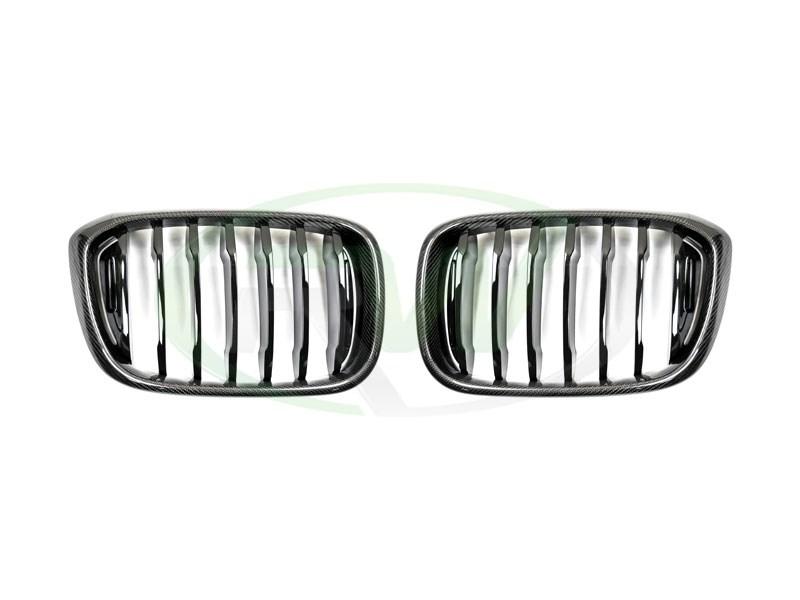BMW G01 X3 G02 X4 Carbon Fiber Grilles