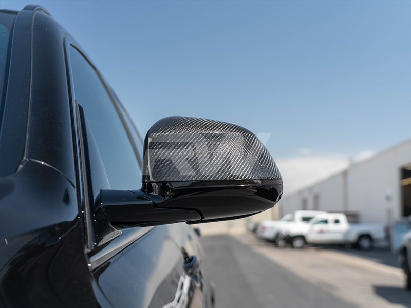 BMW G06 Carbon fiber mirror cap replacements