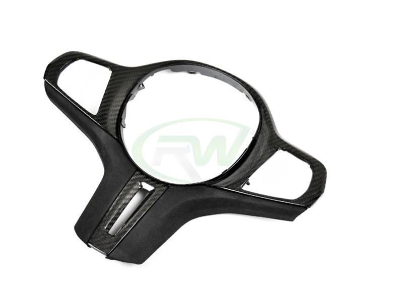 BMW G15 G20 F92 Carbon Fiber Alcantara Steering Wheel Trim