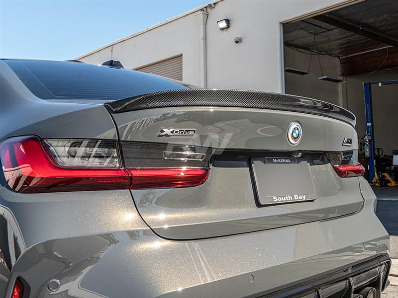 BMW G20 3D Style Carbon Fiber Trunk Spoiler