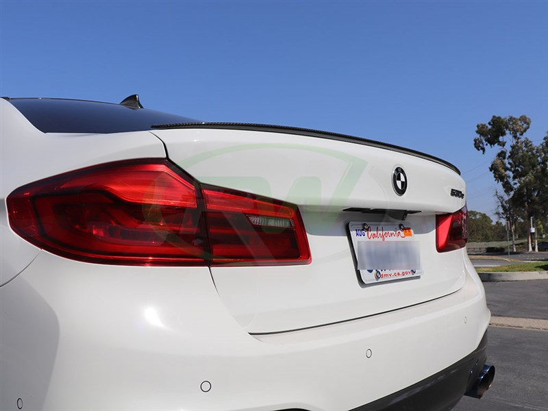 RW Carbon's first G30 5 Series part is this Performance style trunk spoiler