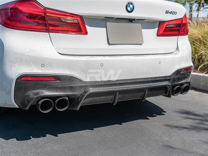 BMW G30 EC Style Carbon Fiber Rear Diffuser
