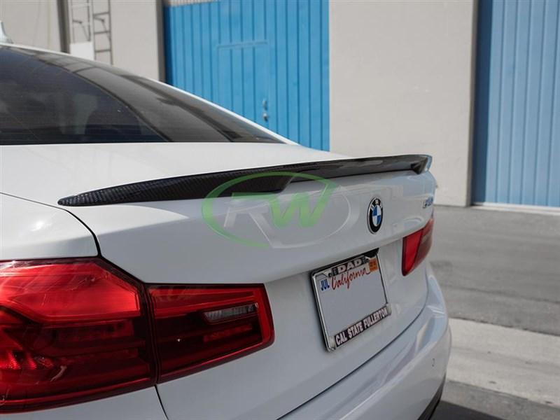 BMW F90 High Kick CF Trunk Spoiler