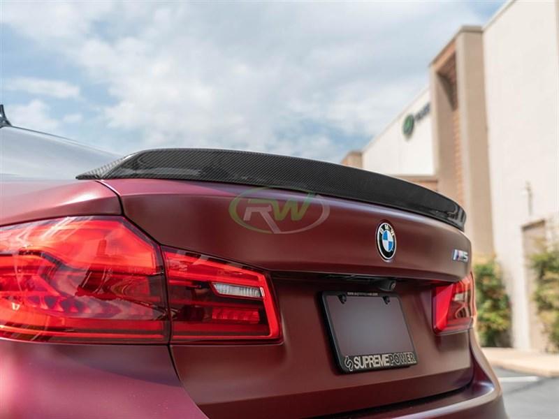 BMW G30 F90 3D Style Carbon Fiber Trunk Spoiler