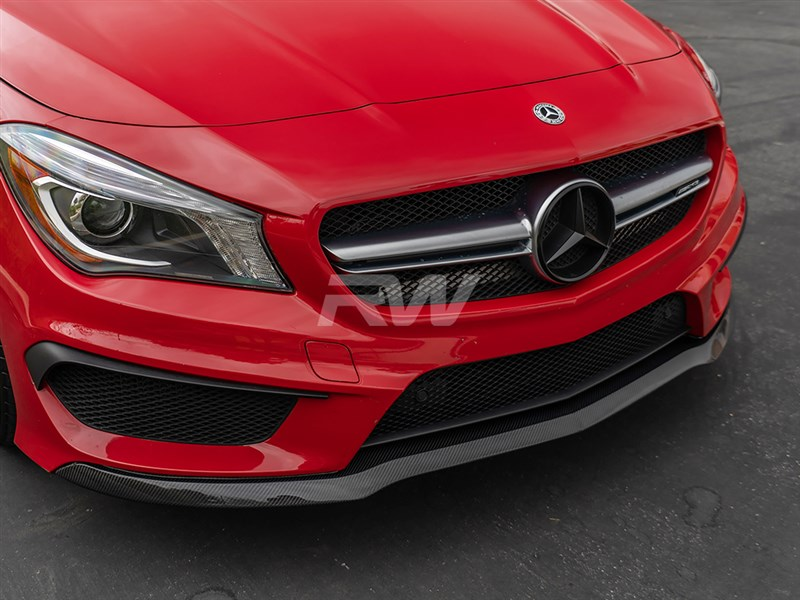 enhanced front end aero with this cla carbon fiber lip.