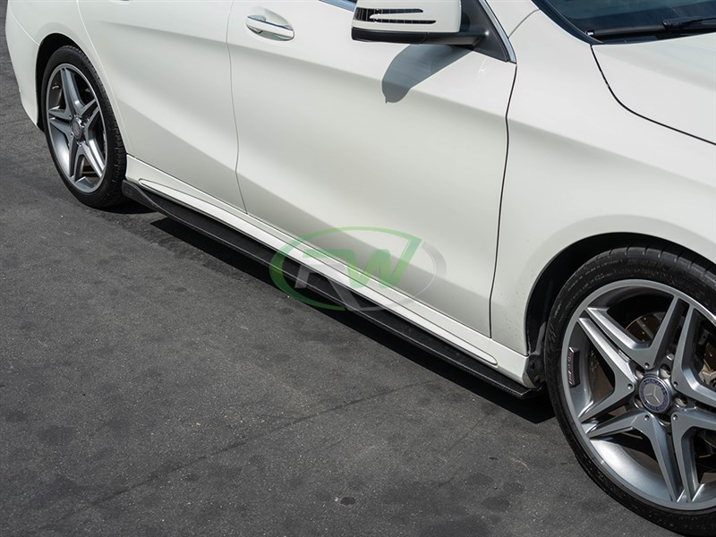 Side Skirt Extensions carbon fiber for the C117 Mercedes CLA250 and CLA45 AMG