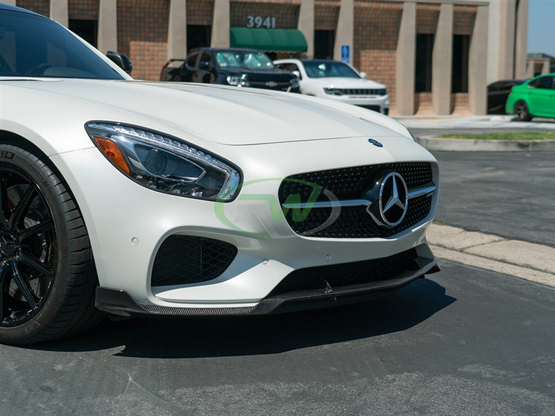 high quality front lip brabus style for mercedes gt and gts