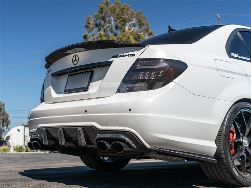 Click here to view Carbon Fiber Big Fin Diffuser for Mercedes C63 AMG