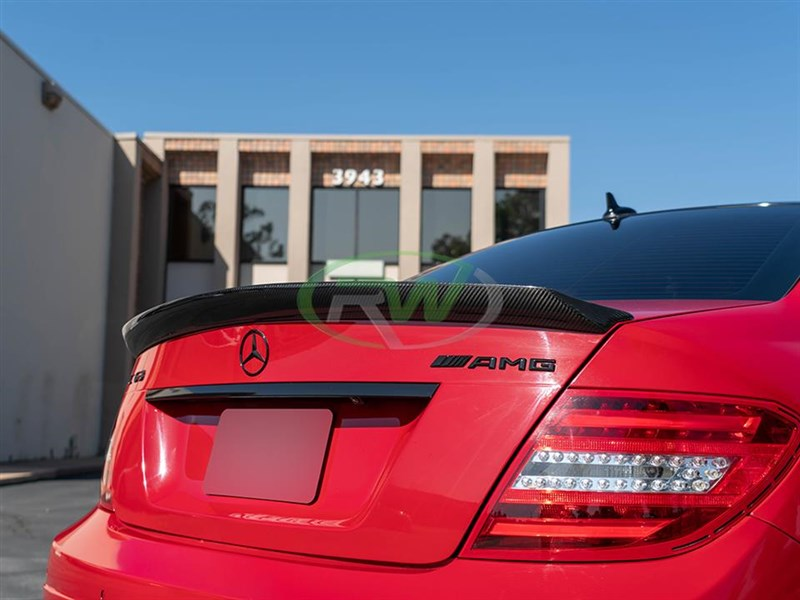 Click to view the DTM trunk spoiler for Mercedes W204 sedan
