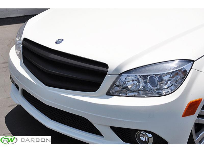 Mercedes Benz W204 C250 C300 C350 Matte Black Grille