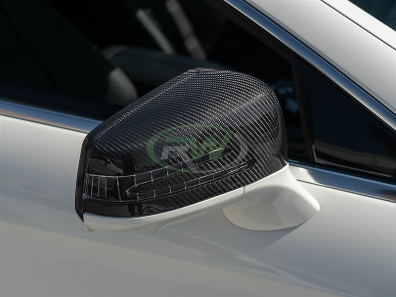 Carbon Fiber Full Replacement Mirror cover housings for E63 AMG W212
