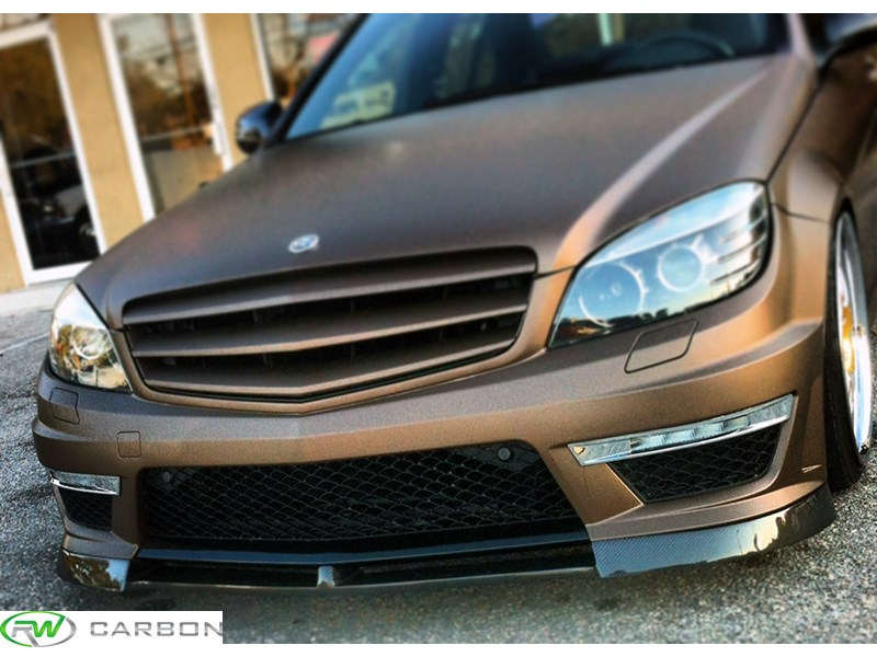 Mercedes W204 Carbon Fiber Lip for C63 Style Bumper