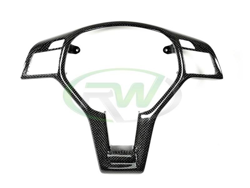 Mercedes carbon fiber steering wheel trim w204 w218 for Mercedes benz interior trim parts