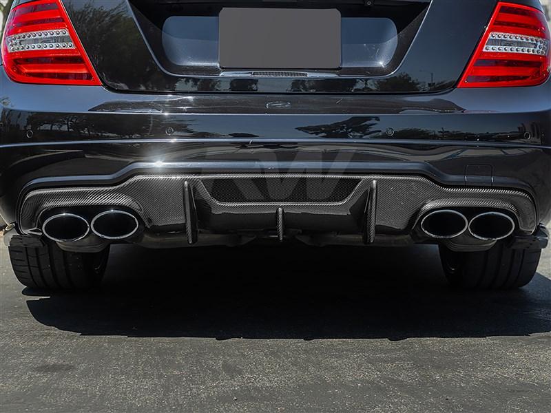 Mercedes C63 V Style Carbon Fiber Diffuser