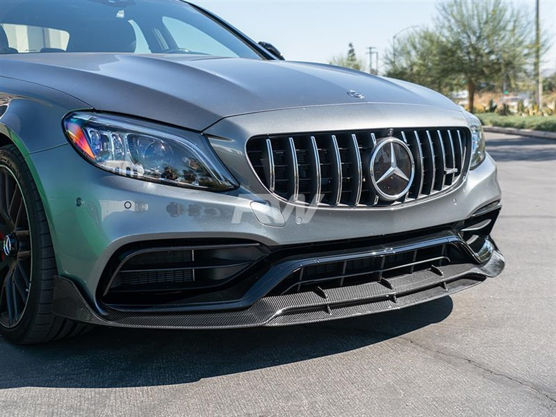 Brabus style carbon fiber lip fits 2015+ C63 and C63S