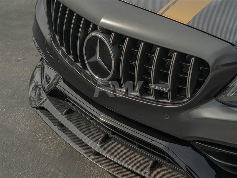 Mercedes W205 C63 Amg Brabus Style Carbon Fiber Front Lip