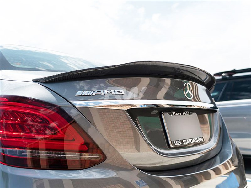 View the all new GTX Carbon Fiber Trunk Spoiler for the Merc W025