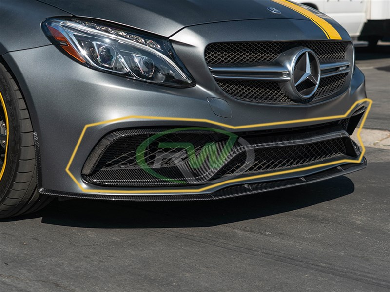 Carbon Fiber front trim fits 2015+ C63 and C63S models