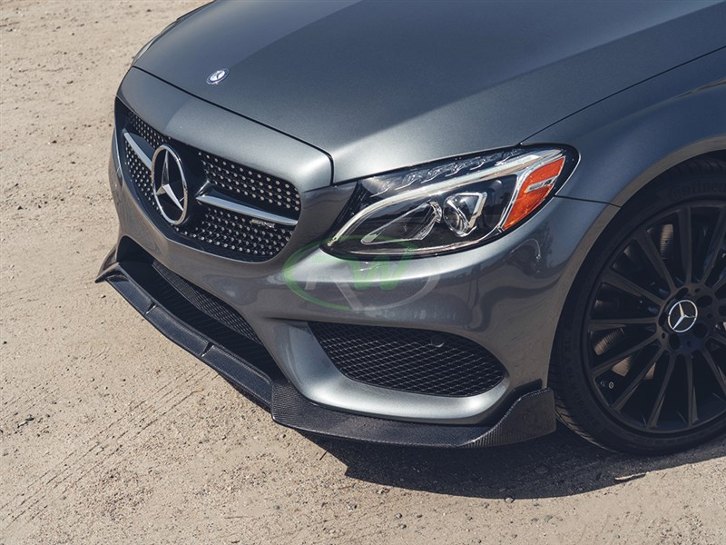Aggressive carbon fiber lip for c300, c400, c43, c450