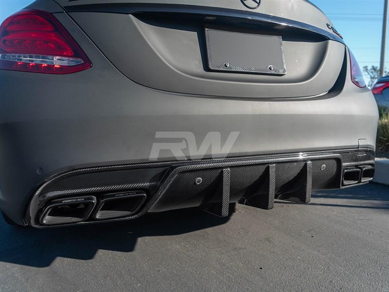 Mercedes W205 C63/C63S AMG DTM CF Diffuser