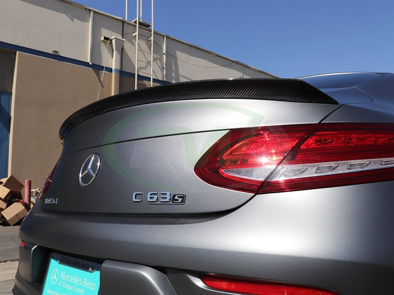 Carbon fiber edition 1 style spoiler for c63s and c63 coupe convertible