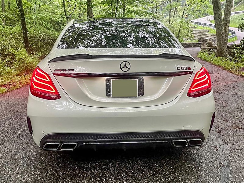 xr style carbon fiber trunk spoiler for w205 sedan