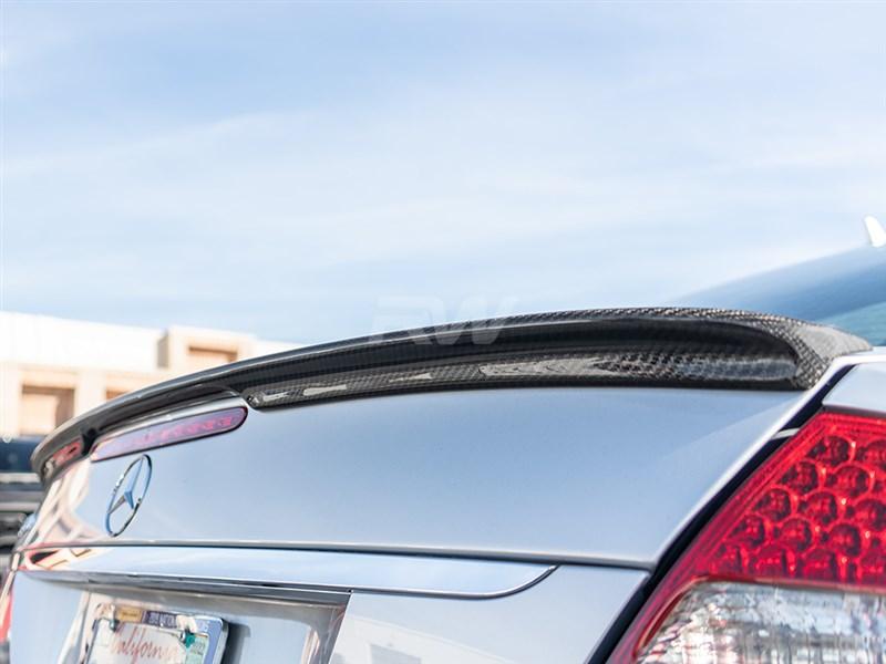 Mercedes W211 E Class Carbon Fiber Trunk Spoiler