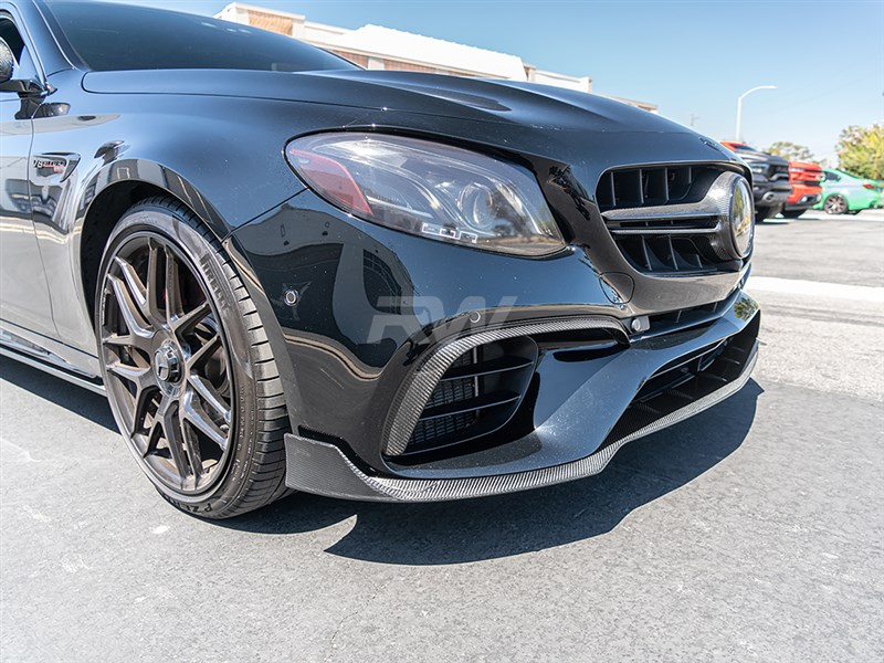 View the Brabus Style Front Lip for the Mercedes W213 E63s