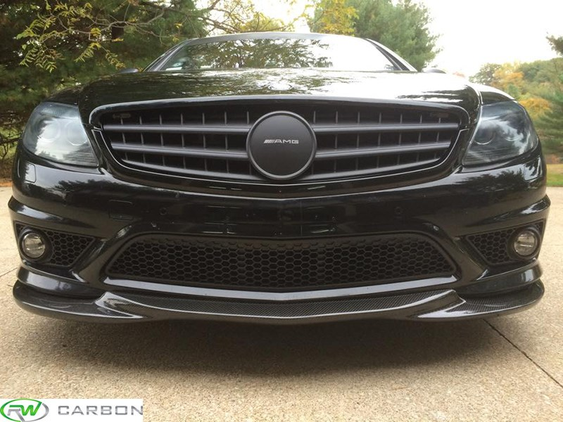 mercedes benz w216 cl63 cl65 amg godhand style carbon fiber front lip