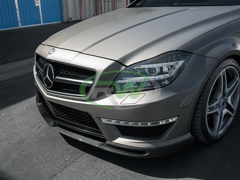 Mercedes W218 CLS63 V Style Carbon Fiber Lip