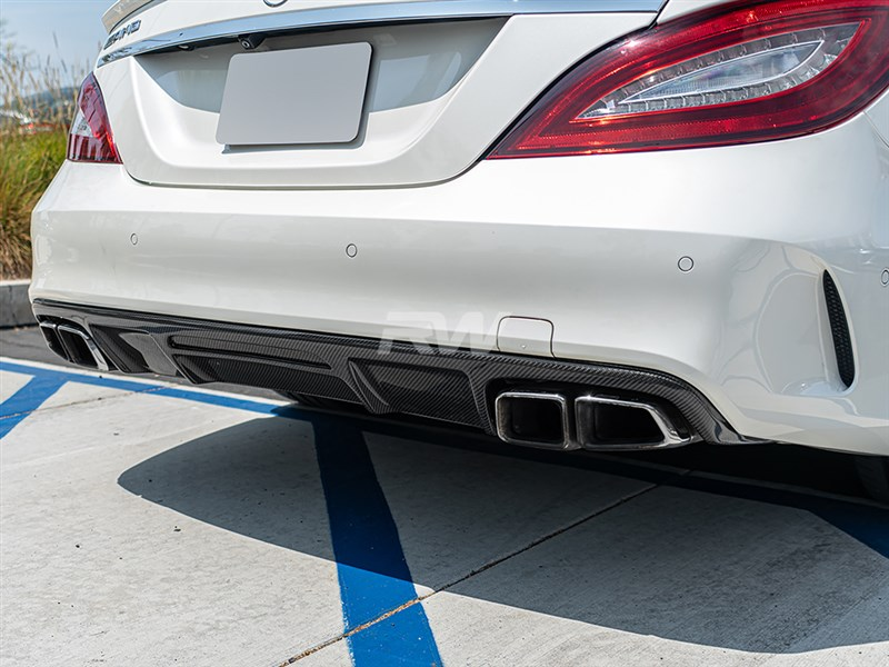 Carbon Fiber Brabus style diffuser for the W218 CLS550 and CLS63