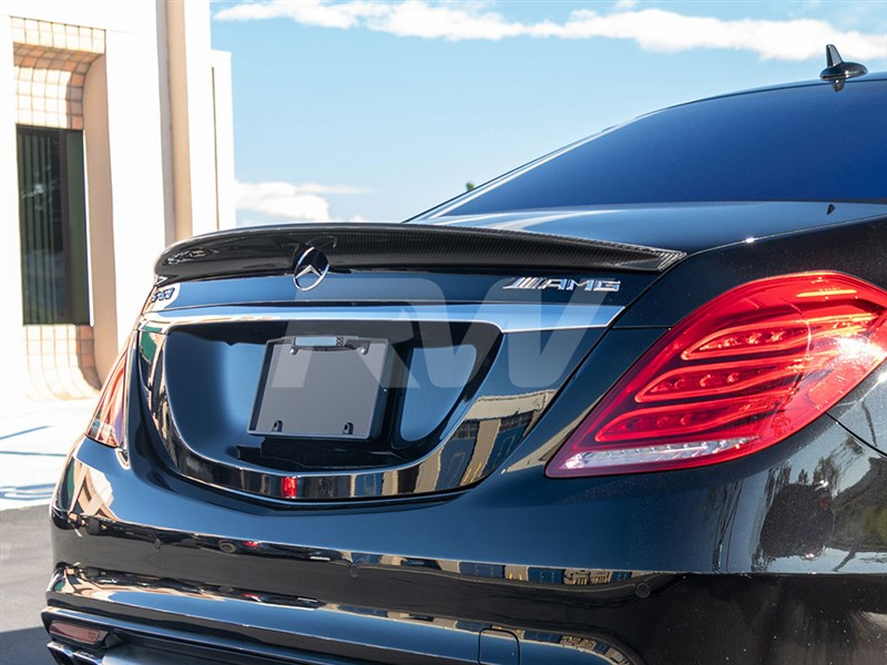View the CF rear spoiler for your 2014+ S550, S63 or S65.