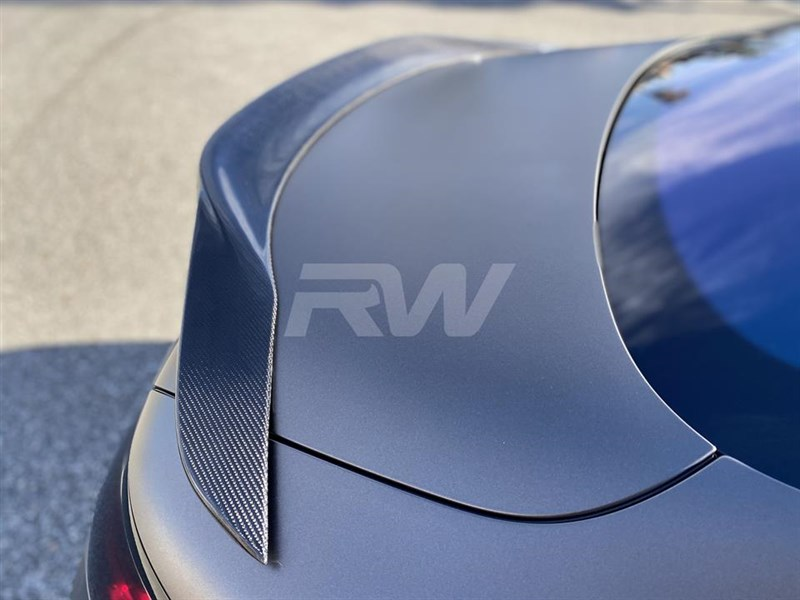 View our new Mercedes C217 carbon fiber trunk spoiler