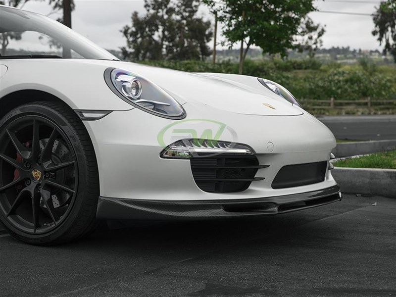 Carbon Fiber Front Lip Spoiler for the Porsche 991 911 Carrera