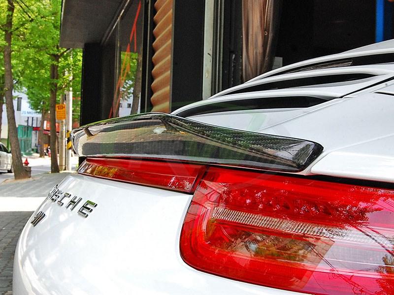 View our new carbon fiber trunk spoiler for the Porsche 991 911