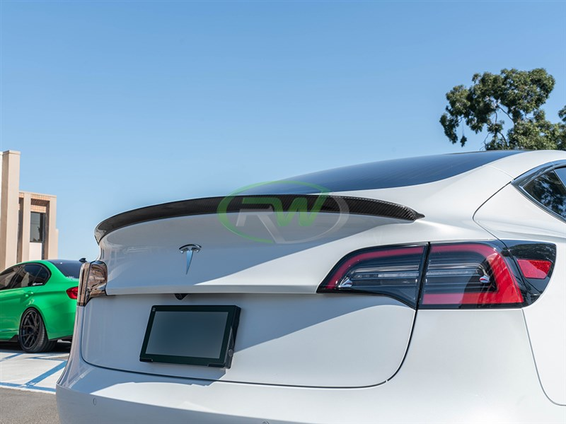 Tesla Model 3 Carbon Fiber Trunk Spoiler